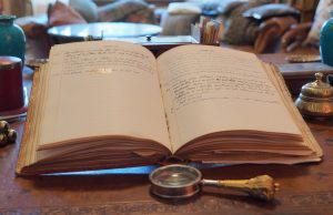 The Garden Diary in the Library
