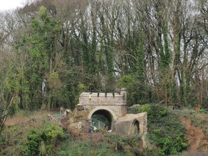 restored Nash arch on Battery Walk