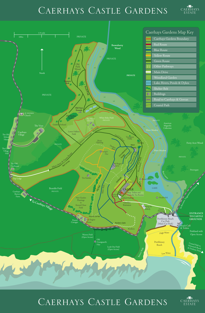 Caerhays Garden Map