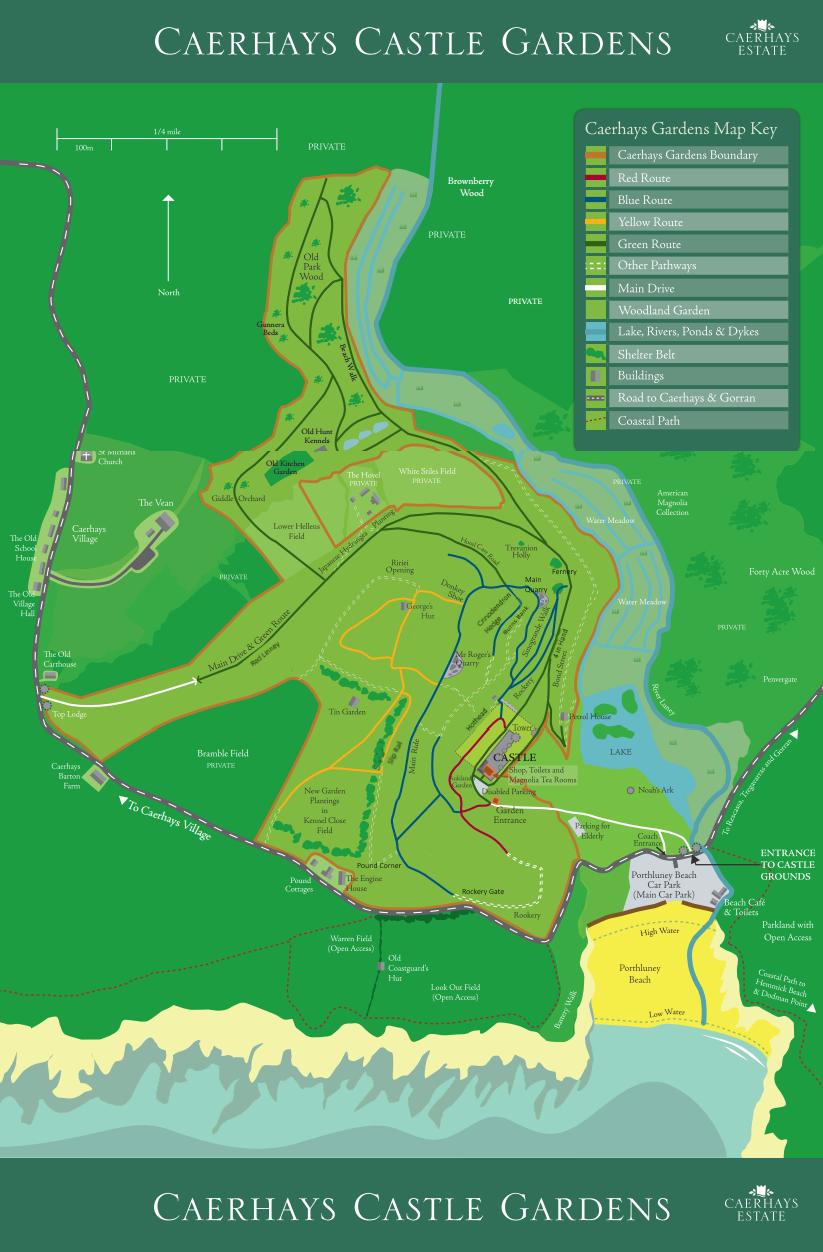 Caerhays Garden Map