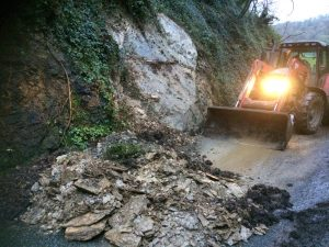 landslip on Porthluney Hill