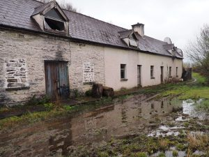 Derelict cottages and farm