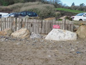 sea defences and boulders