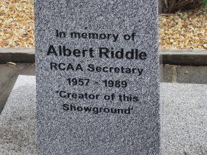 memorial for Albert Riddle