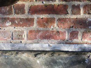 slate slabs on the top wall
