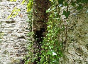 remains of the internal brick chimney