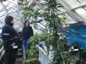 Karol & Asia in the greenhouse