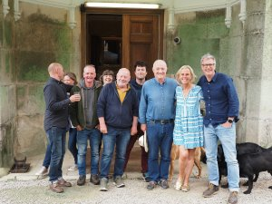 Rick Stein, his wife, and the film crew